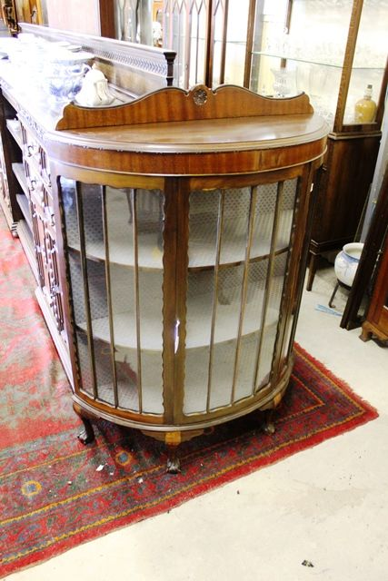 Early 20th Century Half Round Mahogany display Cabinet