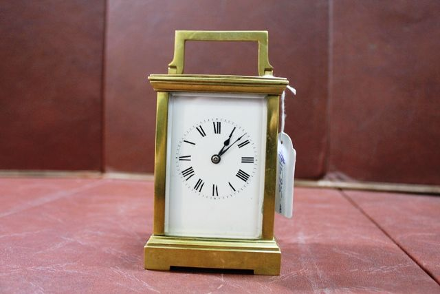 Late 19th Century Brass Carriage Clock With Striking Movement