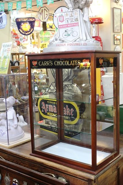 Carrs Chocolate Advertising Display Cabinet