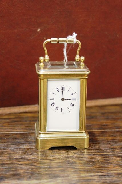 Early 20th Century Miniture Brass Carrige Clock