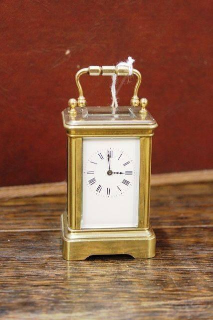 Early 20th Century Miniture Brass Carrige Clock