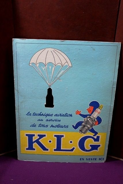 A Period KLG Spark Plug Advertising Card