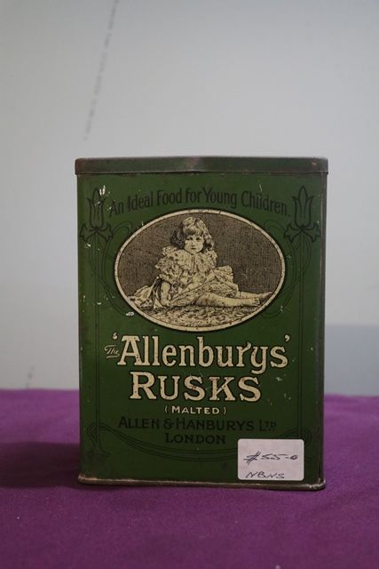 Allenburys Rusks Tin by Allen and Hanbury Ltd