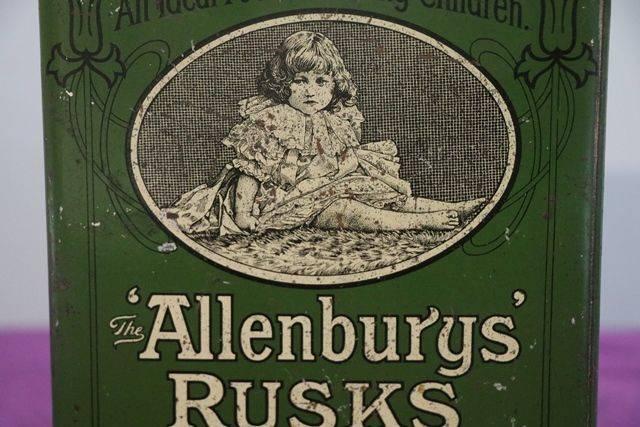 Allenburys Rusks Tin by Allen and Hanbury Ltd
