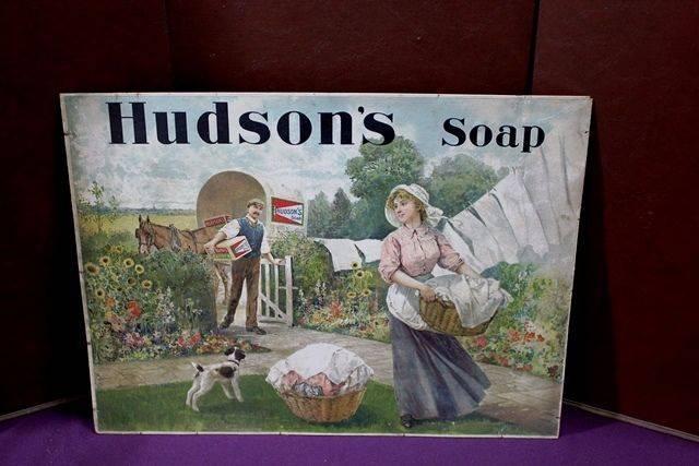 Antique Hudsons Soap Shop Adv Card