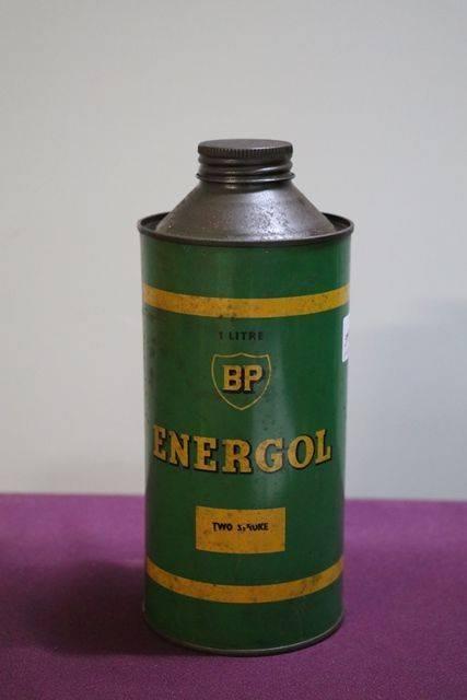 BP Energol One Litre Two Stroke Oil Tin