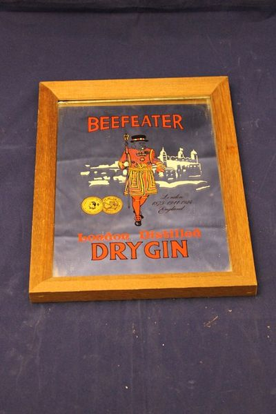Beefeater Gin Pub Advertising Mirror
