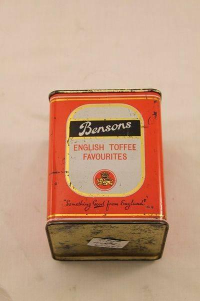 Bensons English Toffee Tin