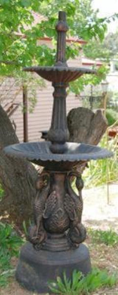 Cast Iron Swan Fountain --- GF 29