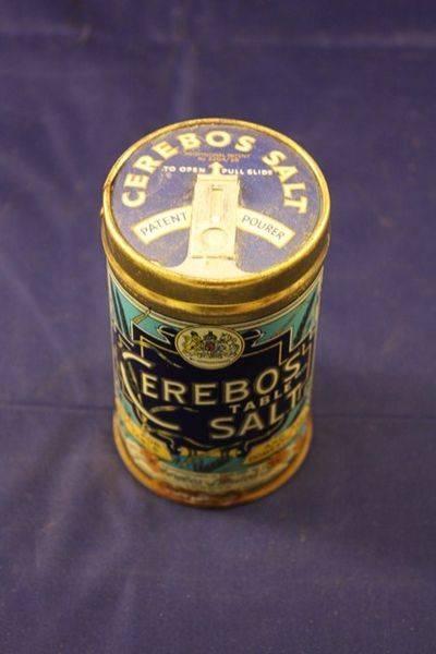 Cerebos Salt Tin with pourer