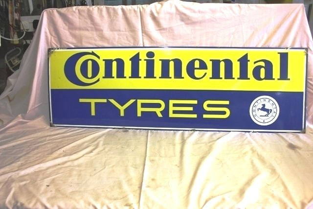 Continental Tyres Enamel Advertising Sign