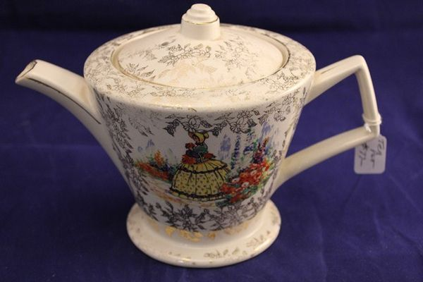 Crinoline Tea Pot Made in England
