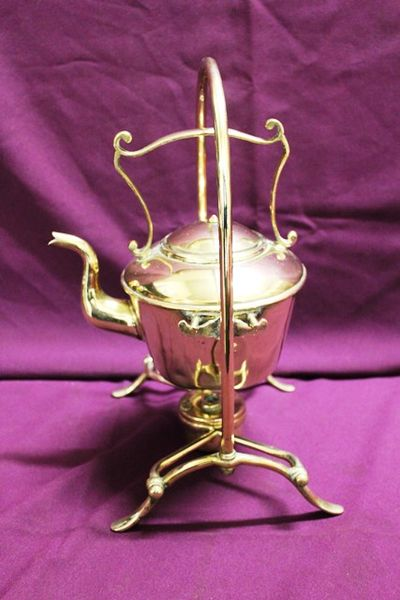 Edwardian Brass Spirit Kettle