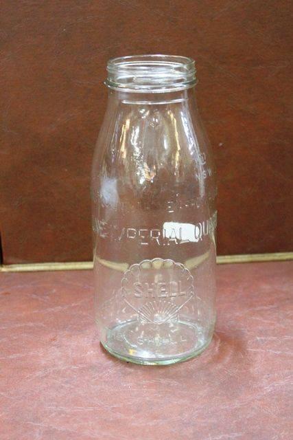 Embossed Shell Quart Oil Bottle Xxxx Antique Complex