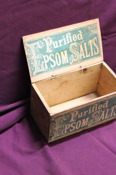 Epsom Salts Wood Advertising Display Box