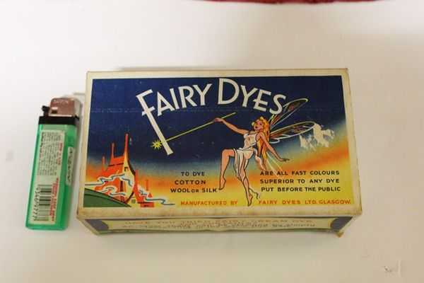 Fairy Dyes Box unopened with contents