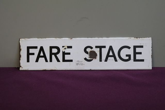 Fire Stage Enamel Sign
