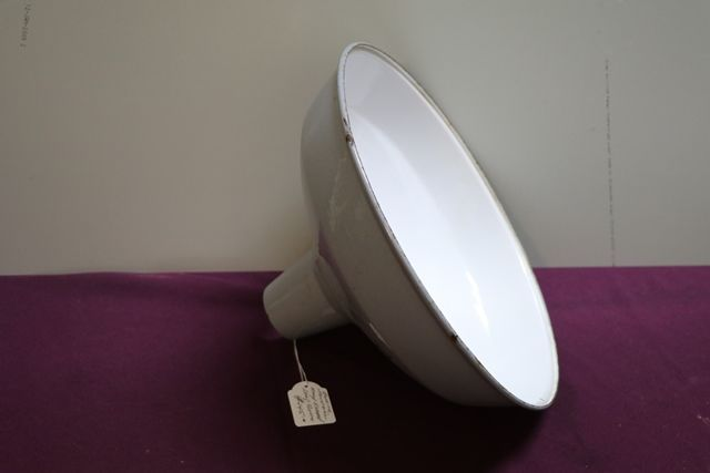 Genuine Industrial Grey Enamel Lamp Shade