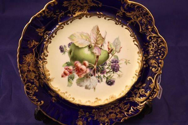 Hammersley Cobalt blue dessert plate