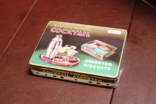 Huntley And Palmers Cocktail Biscuit Tin