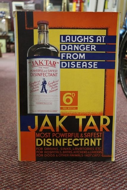 Jak Tar Disinfectant Advertising Sign