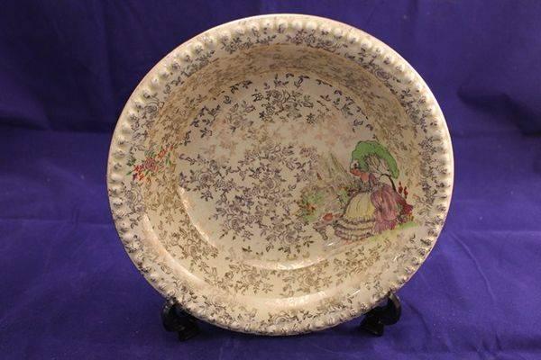 Large Crinoline Lady Bowl