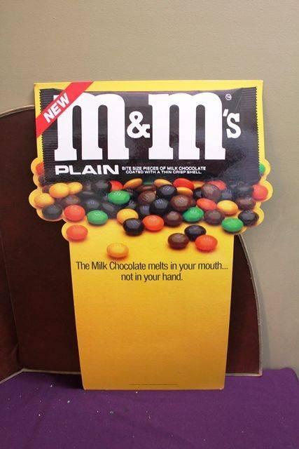 Large MandMs Advertising Card