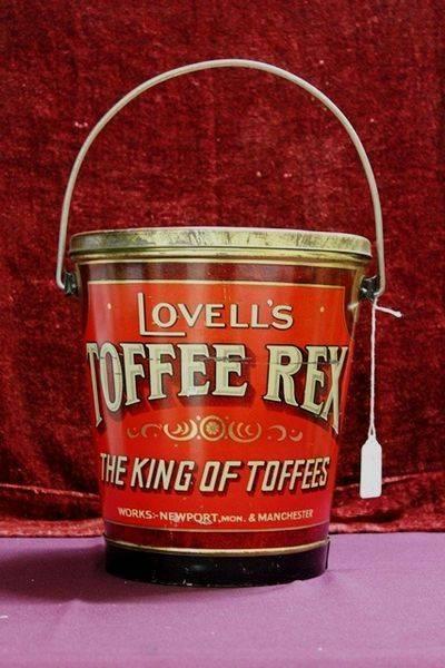 Large Vintage Lovells Toffee Rex Bucket