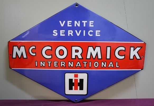 McCormick International Enamel Advertising Sign