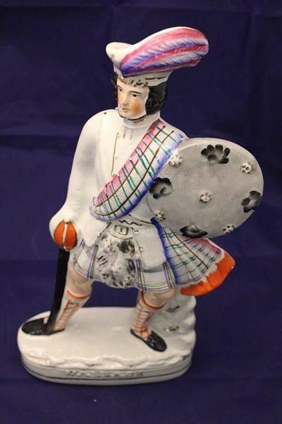 Mid 19th Century Staffordshire Scotsmen Figure