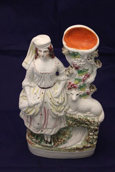 Mid 19th Century Staffordshire Shepherdess