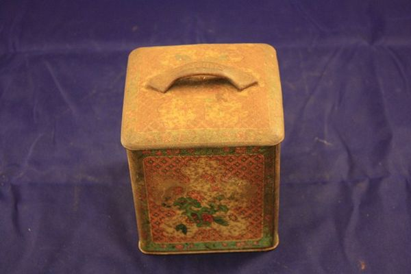 Old Biscuit Tin With Handle