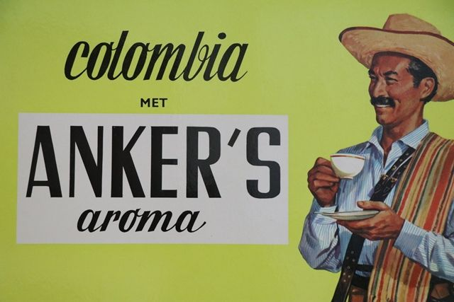Original Colombia Ankerand39s Aroma Coffee Advertising Card