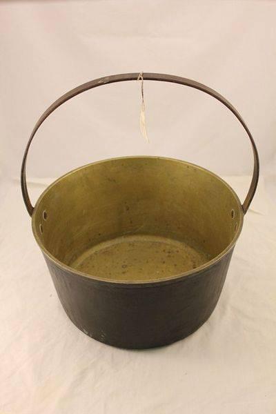 Original Old Large Brass Jam Pan