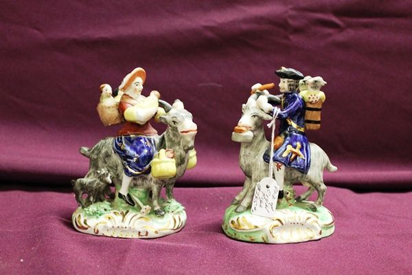 Pair Of 19th Century Porcelain Figures