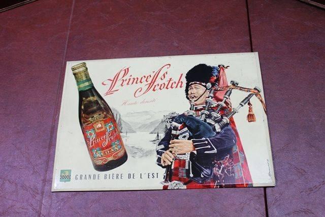 Prince Scotch Tin Advertising Sign
