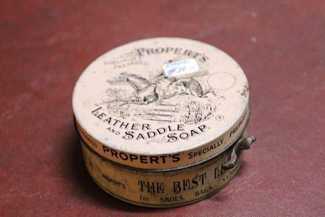 Properts Leather And Saddle Soap Tin