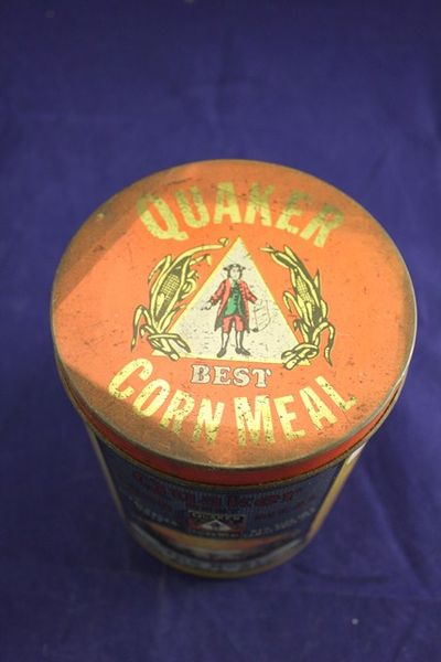 Qauker Corn Meal Tin