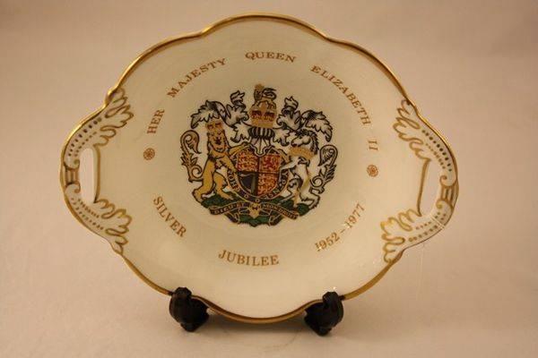 Queen Elizabeth II Silver Jubilee Coalport Bowl