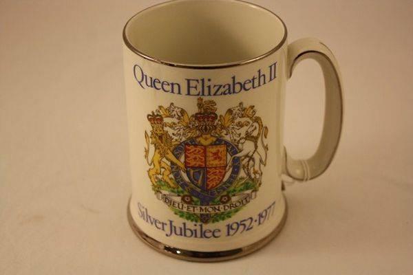 Queen Elizabeth II Silver Jubilee Tankard