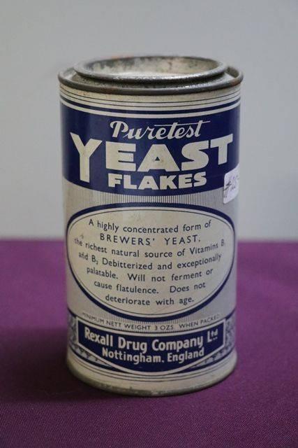 Rexall Drug Puretest Yeast Flakes Tin