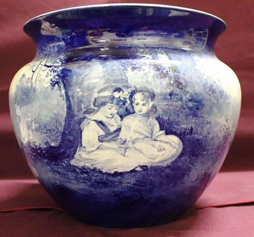 Royal Doulton Blue Children Jardiniere C1900 20