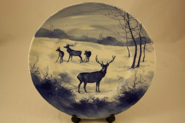 Royal Doulton Deer Scene Plate
