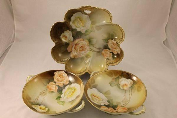 Set of 7 Continental China Bowls C1930s