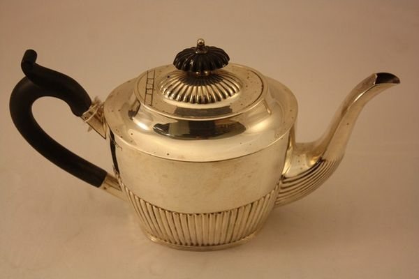 Sheffield Sterling Silver Tea Pot C1904 By Mappin + Webb