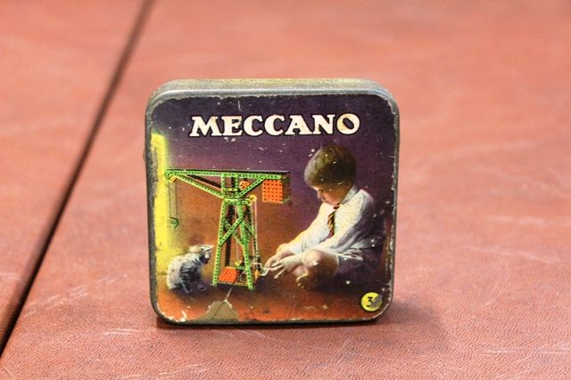 Small Meccano Tin