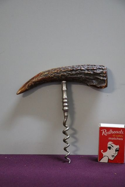 Stag Horn + Silver Antique Corkscrew