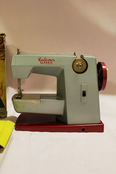 Vulcan Classic Toy Sewing Machine With Original Box Handbook and Table Clamp