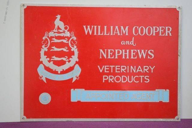 William Cooper Veterinary Aluminium Sign