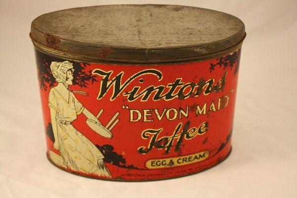 Wintons Devon Maid Toffee Egg + Cream Tin